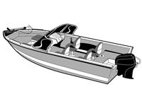 Aluminum fishing boat covers