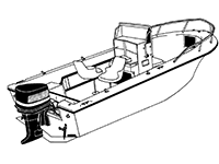 Boat covers for center console boats