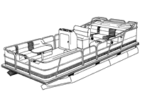 Covers for pontoon boats
